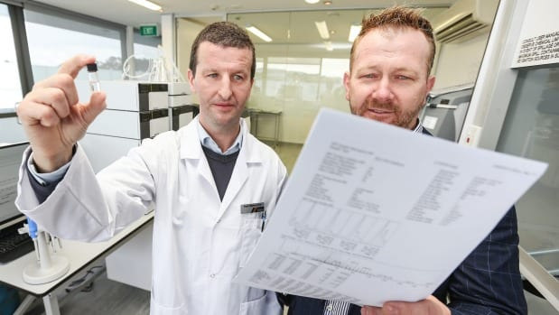 The Drug Detection Agency (TDDA) chief executive Kirk Hardy, right, with director of research and development Dr Paul ...