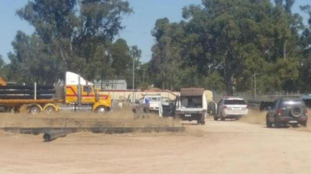 A 36-year-old man was killed in a Chinchilla workplace accident on Saturday.