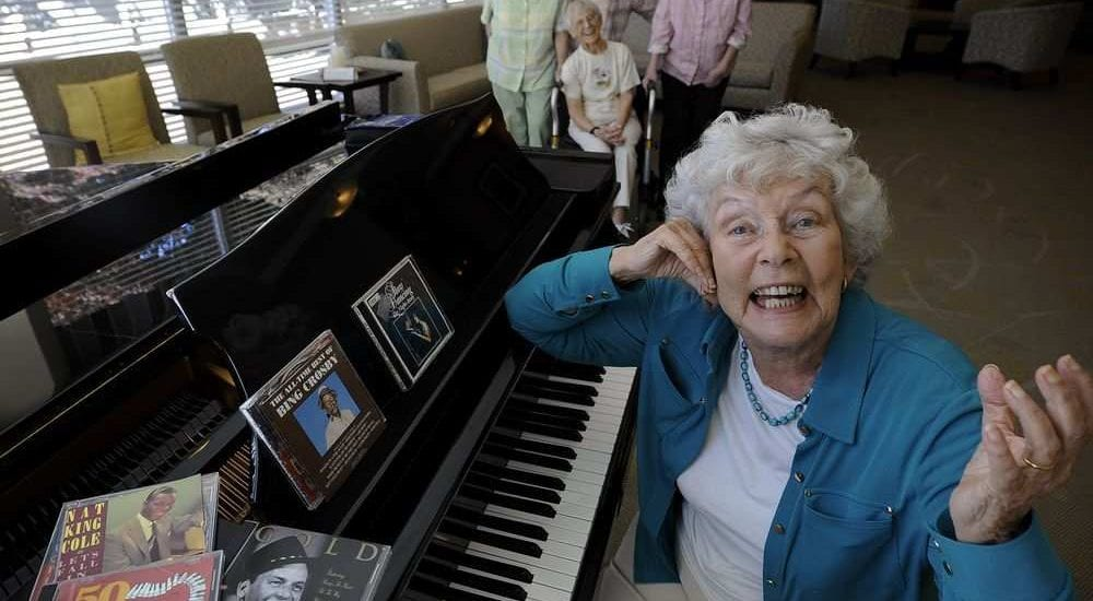 FILE PHOTO Joy Gaze, 88, a senior who was involved in bringing classical music concerts to her care home through Concerts In Care in B.C.