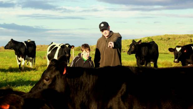Stuart Taylor, with son Miller, says it is no longer acceptable to take a risk on the farm.